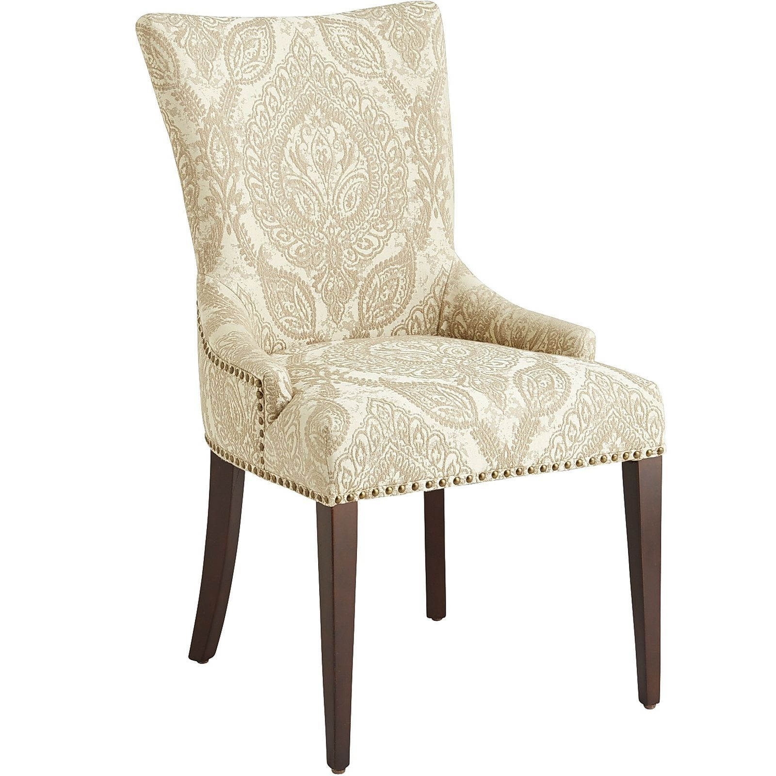 Adelle Khaki Dining Chair With Espresso Wood Cottage