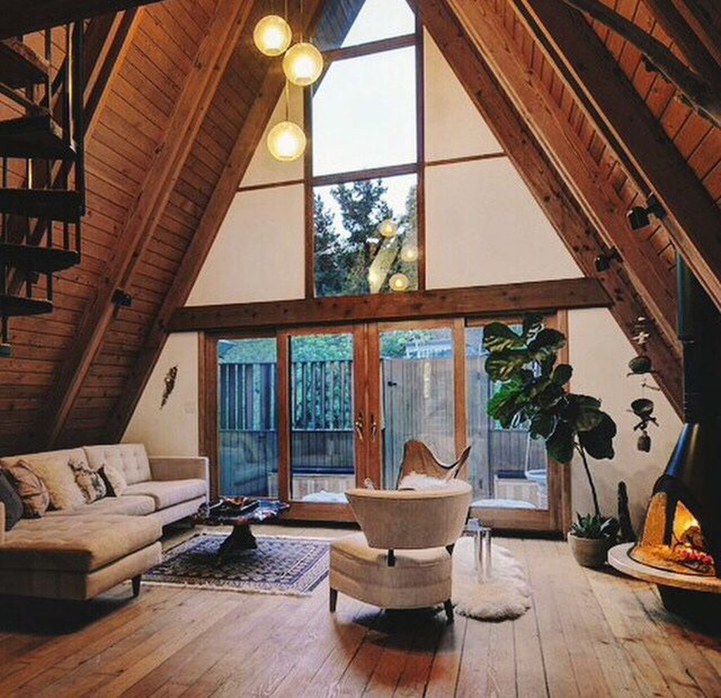 8 Surprising Cool Tips Attic Stairs Makeover Attic Skylight Ceilings Attic Lighting Projects Attic Ladder Layout A A Frame House A Frame Cabin Cabin Interiors