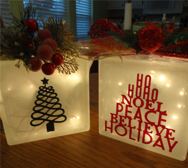 Glass Block Craft Ideas For Christmas Part - 18: Projects Project Skill Level Easy Project Time Less Than 30 Minutes · Christmas  Glass BlocksChristmas ...