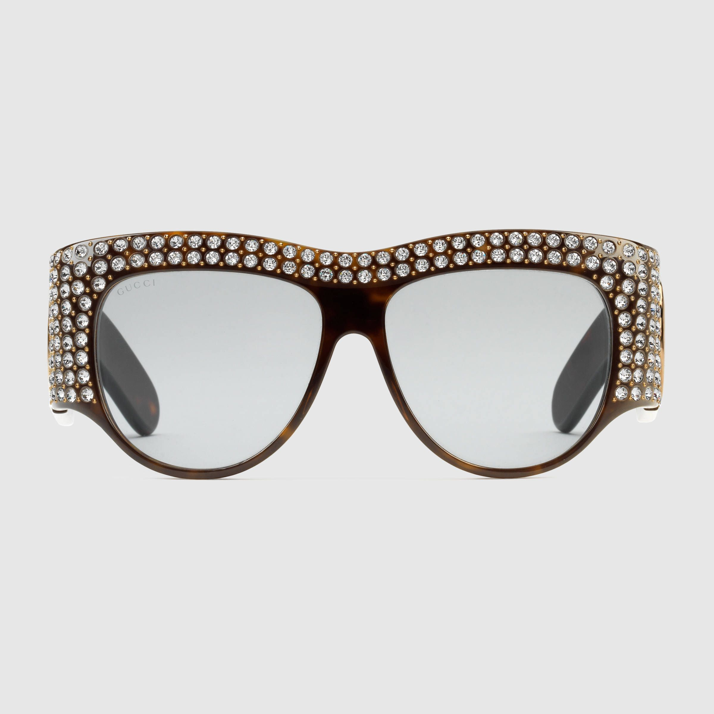5cd6debb716ce Rectangular-frame acetate sunglasses with pearls - Gucci Women s Eyewear.  Women