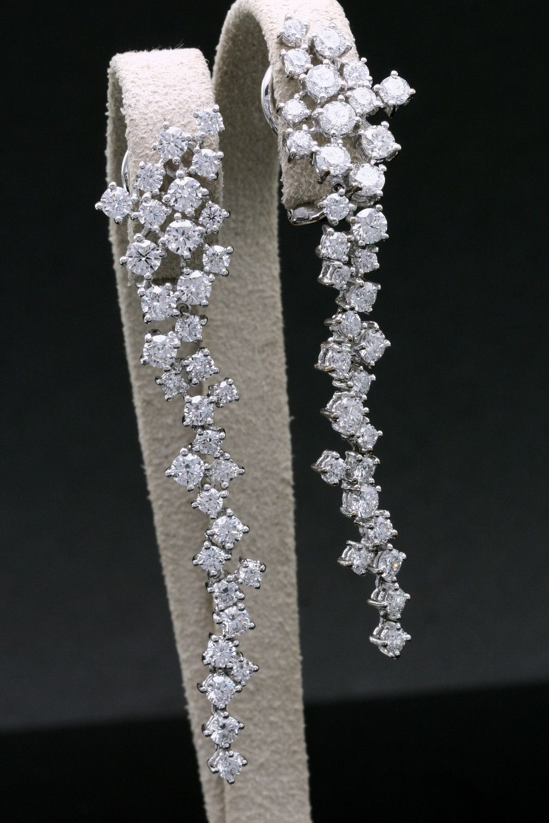 drop long diamond georgian earrings