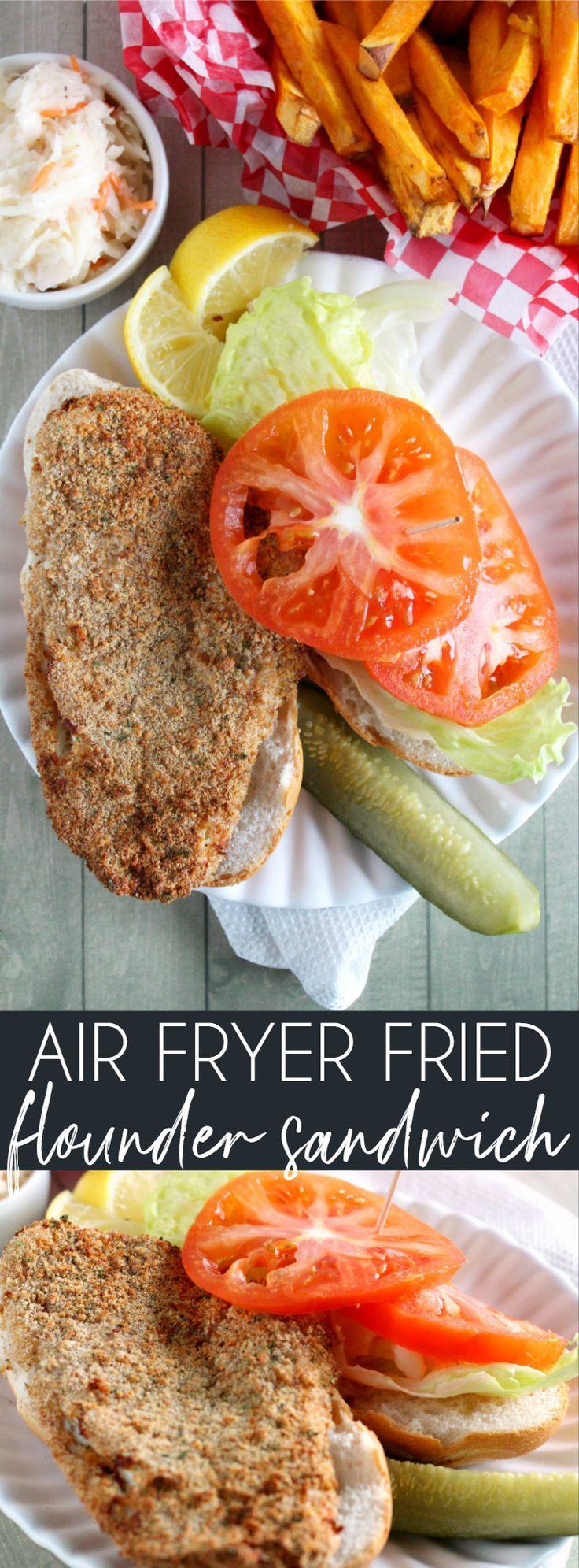 Air Fryer Fried Flounder Sandwich Recipe Fried