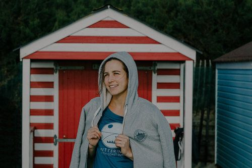 Ladies Wittering South Coast Surf t shirt and fleece lined hoodie.