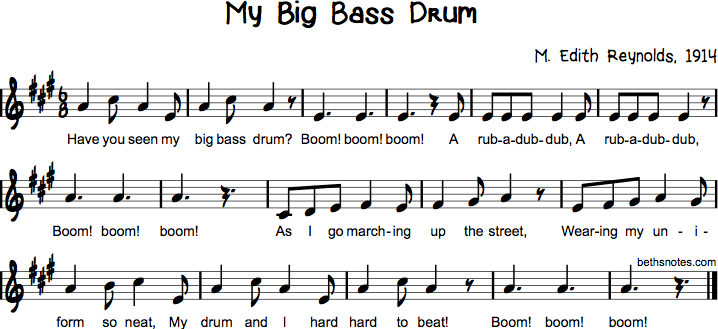 My Big Bass Drum | music | Beat songs, Drums, Music worksheets