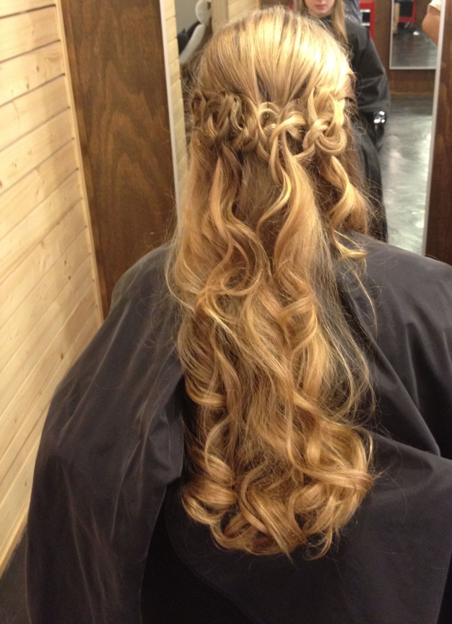 Curly twisted fancy hair style my style pinterest curly hair