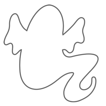 GhostGreat Template  Coloring Pages    Template