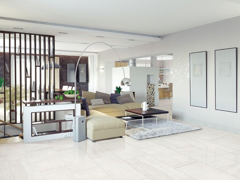 ELEGANTILES Essence Porcelain Tiles Arctic Statuario