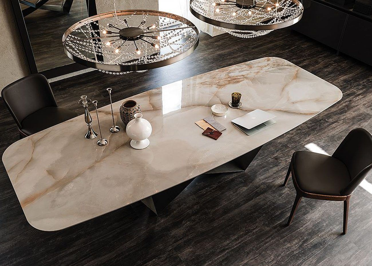 Top Modern Italian Furniture Brands Ylighting Ideas Dining Table Marble Keramik Dining Table Marble Dining [ 932 x 1300 Pixel ]