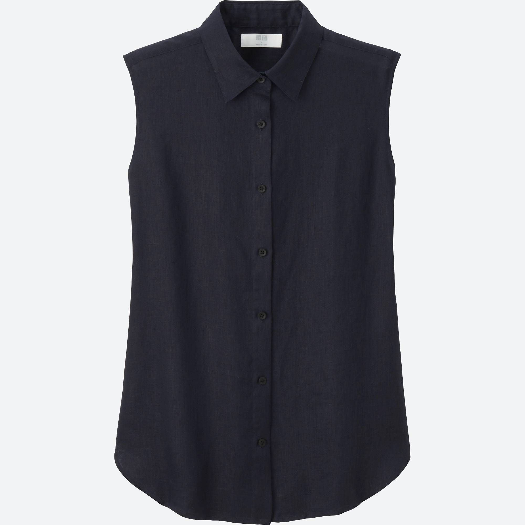 9f9174c4e2af8 Women premium linen sleeveless shirt in 2019