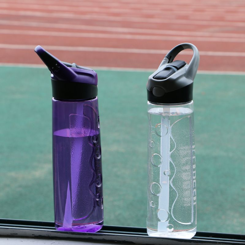 750ML Sports Water Bottle With Plastic Straw (BPA Free