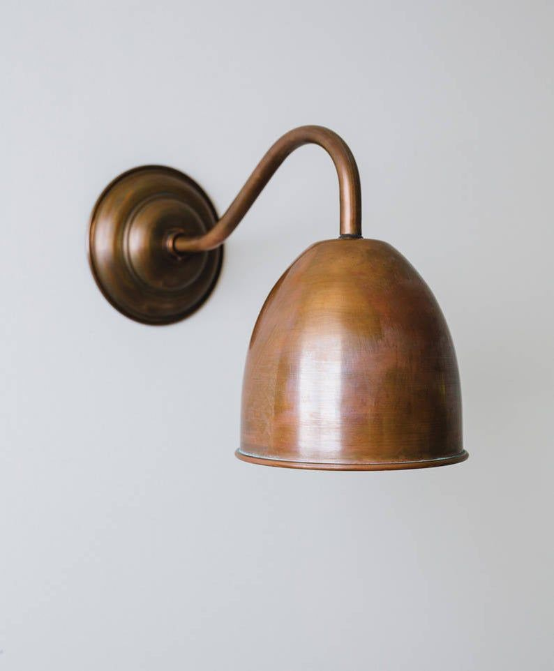 Humphrey Aged Copper Wall Light Etsy Copper Wall Light Industrial Wall Lights Wall Lights