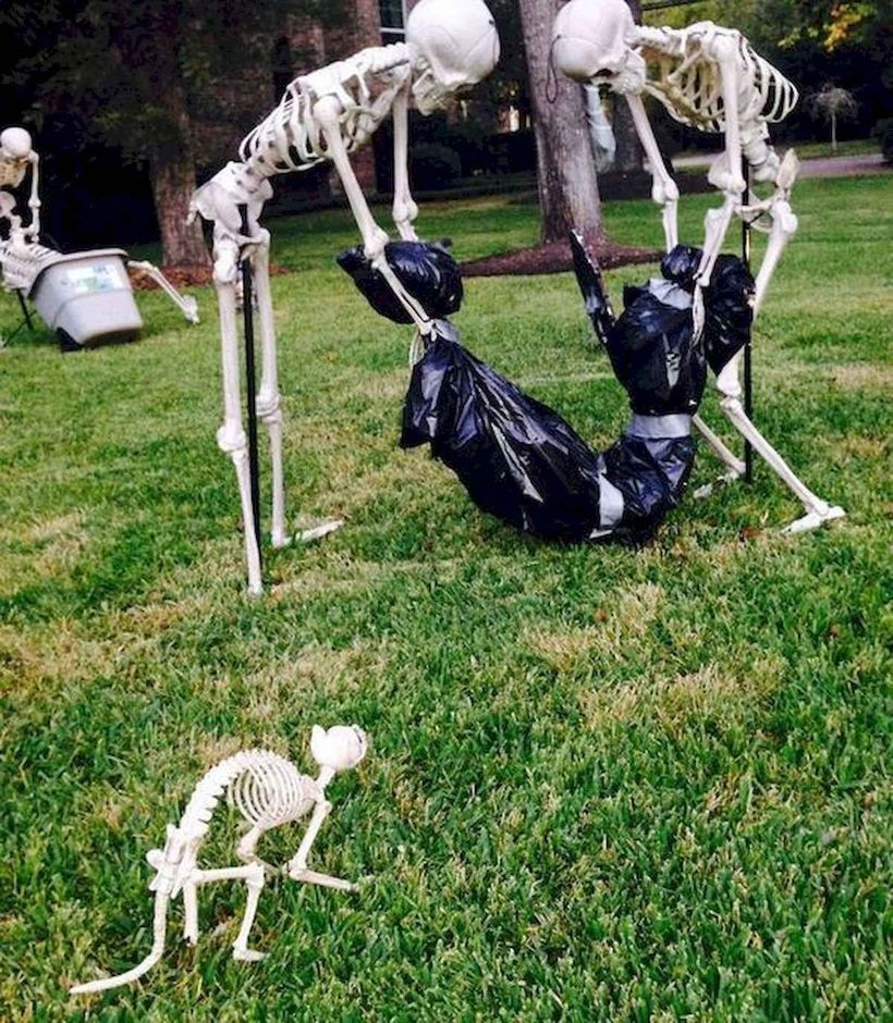 56 Awesome DIY Halloween Decorations Ideas for Your Front Yard