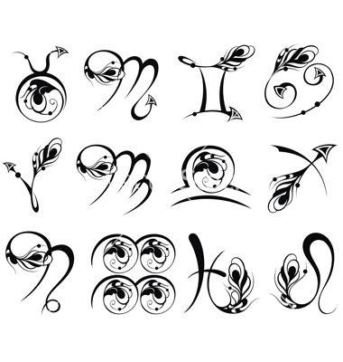 Zodiac signs vector #zodiacsigns