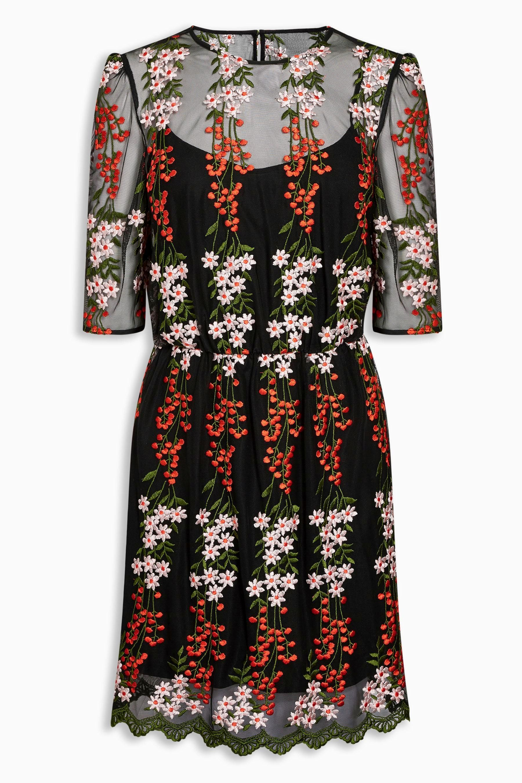 The best embroidered dresses for girls who only wear black black