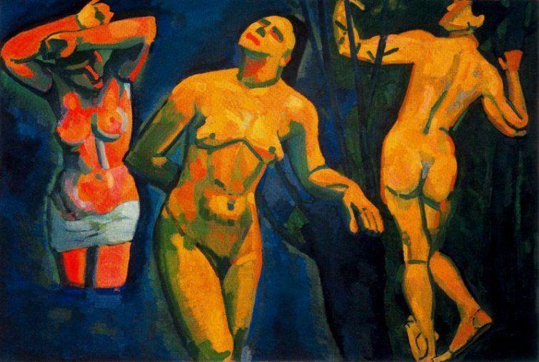 Los bañistas (1907), André Derain