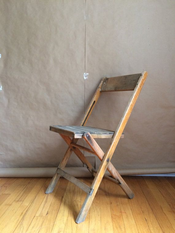 Vintage 1940u0027s Wooden Fold Up Camp Chair // Made In Usa Via GoodFinds