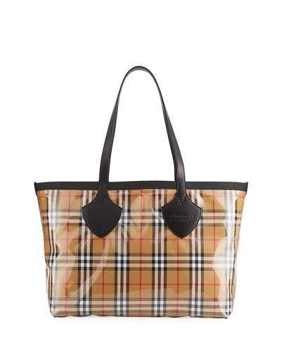 Burberry Giant Transparent Vintage Check Tote Bag  af870db8a173f