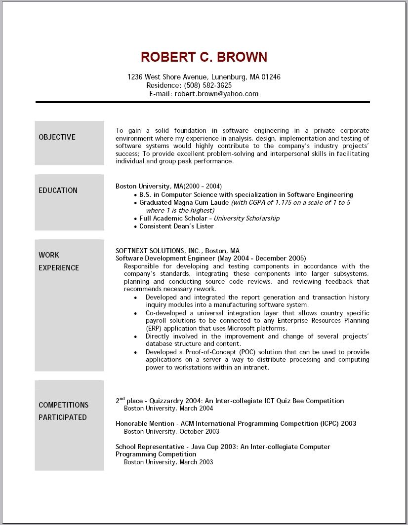 resume objective statement top within basic sample career examples ...