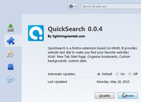 QuickSearch 0.0.4