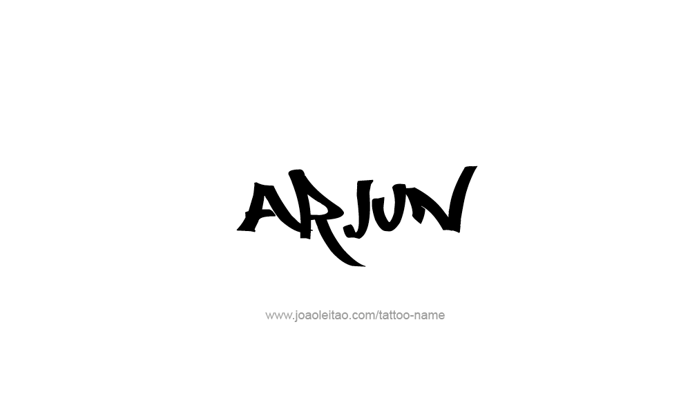 Arjun Name Tattoos