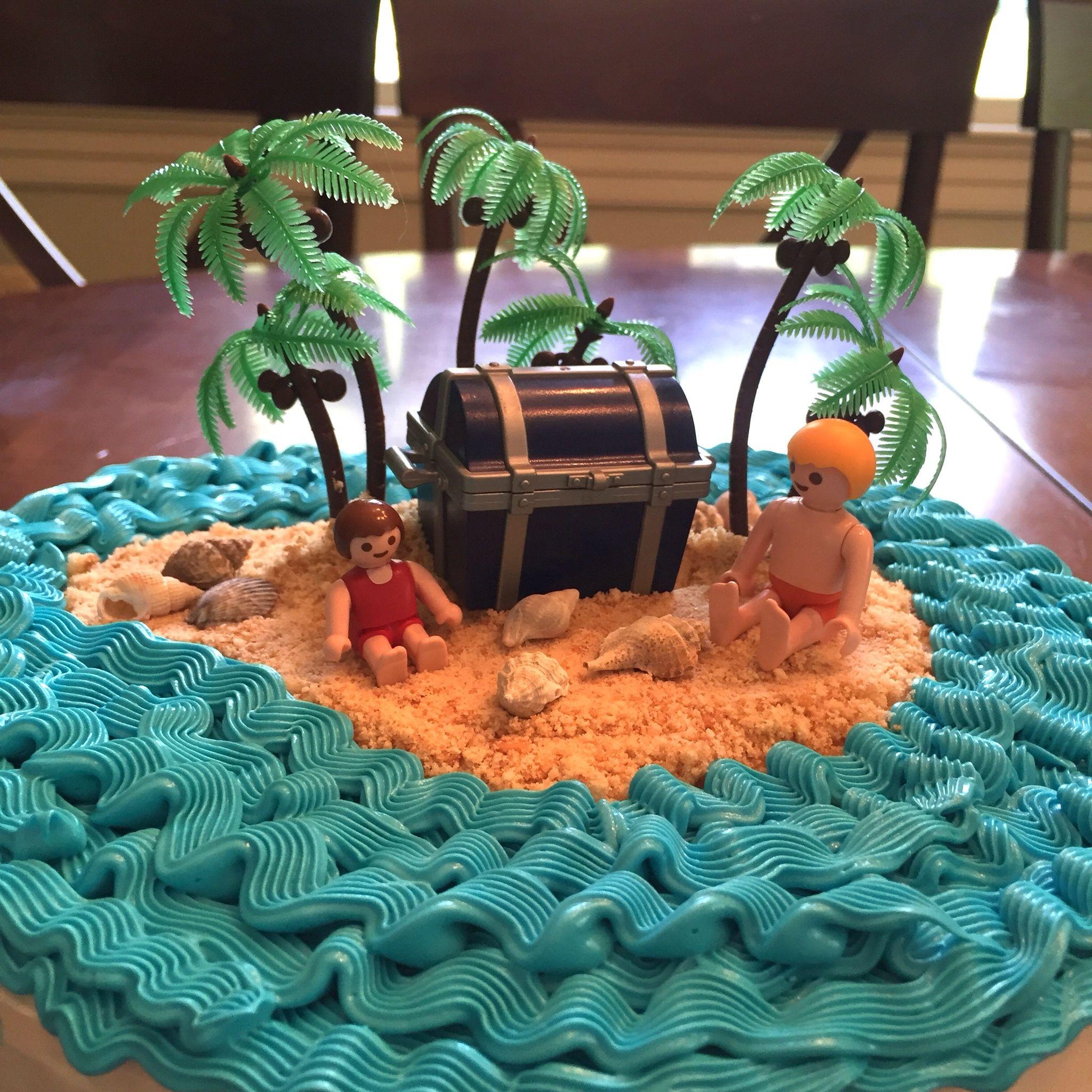 Stranded On A Desert Island Cake Girl Age 7