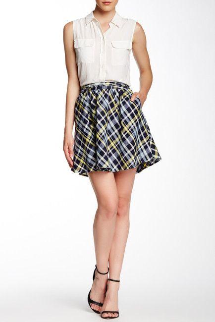 Kaylea Printed Linen Skirt
