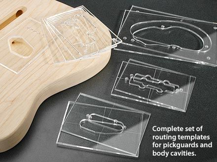 PickupControl Cavity Routing Template Set Stewmaccom Guitar - Guitar routing templates