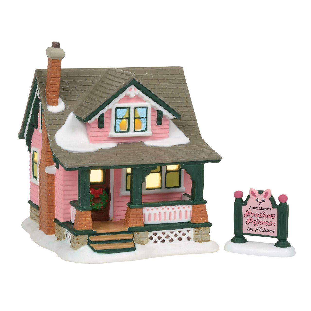 Department 56 A Christmas Story Village Aunt Clara's House Building 6001185 #department56