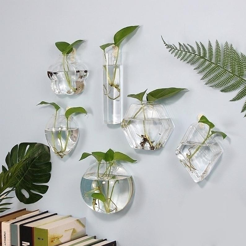 Creative Wall Glass Vase Micro Landscape Glass Container Hanging
