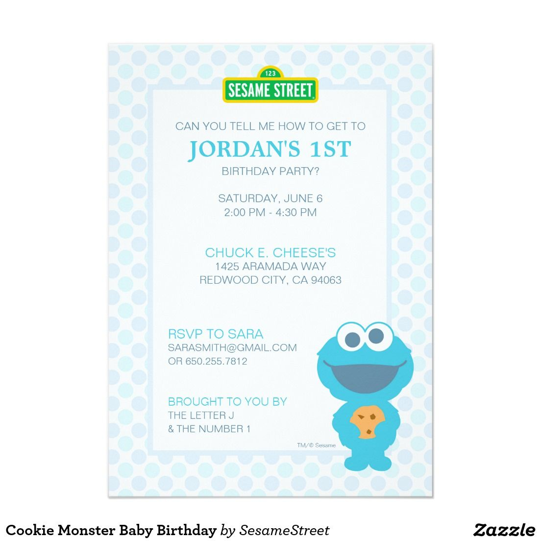 Cookie Monster Baby Birthday Card | Cookie monster, Birthdays and ...