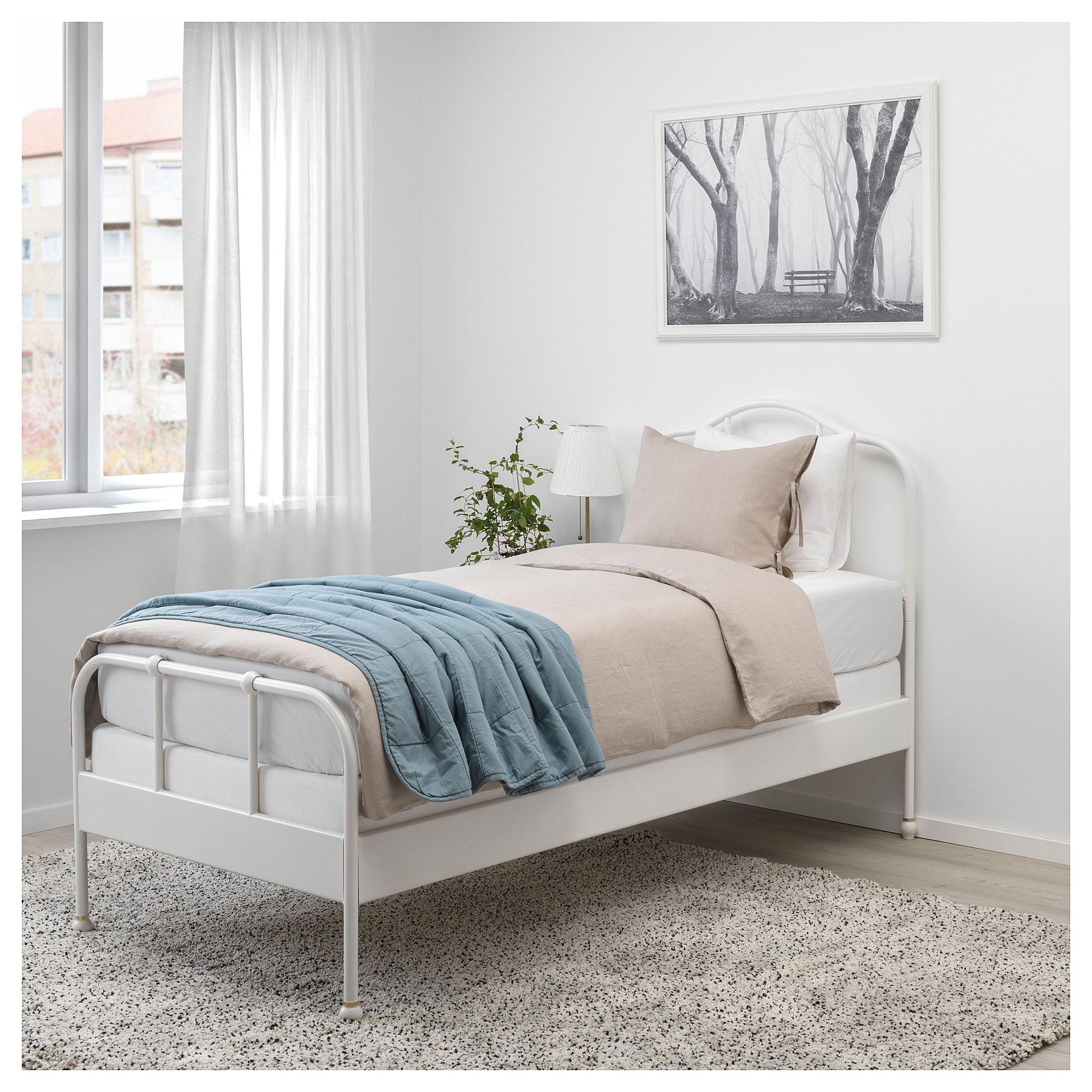 SAGSTUA Bed frame white, Espevär Twin Casas