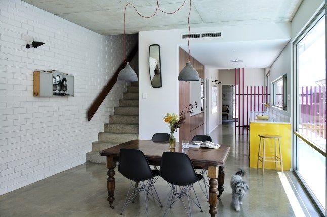 succession salle mange cuisine salon et escalier   salon   Pinterest ...