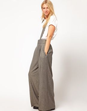 pantalon large avec bretelles futal pinterest. Black Bedroom Furniture Sets. Home Design Ideas