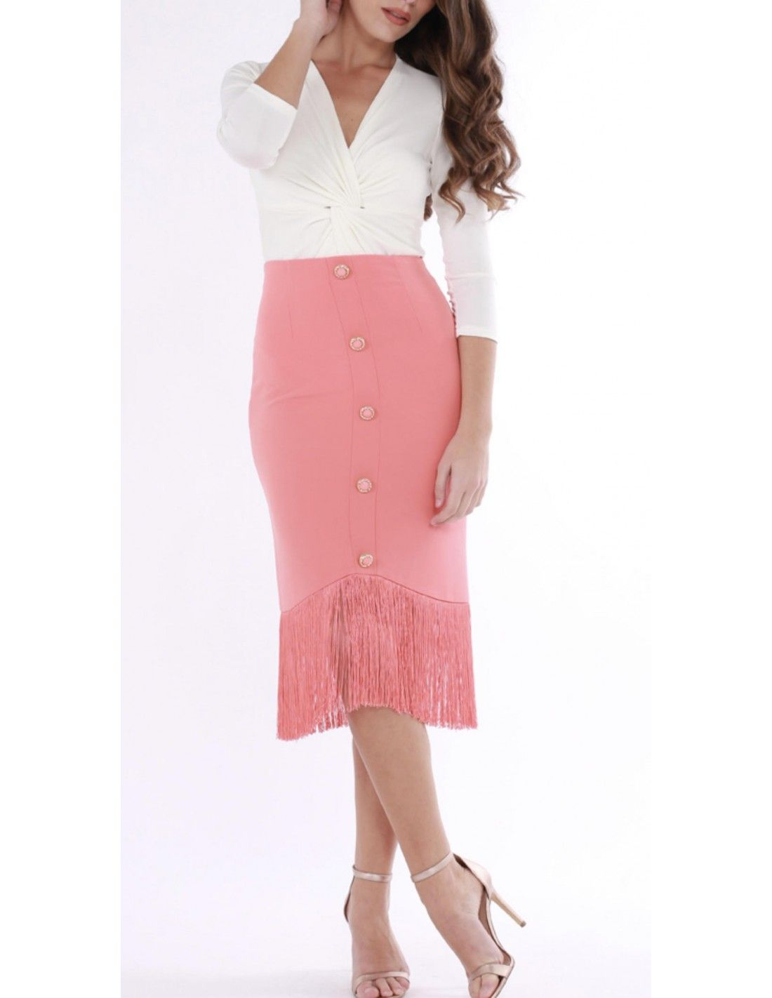 f080a6058 falda Celia en 2019 | MODA FIESTA | Faldas, Flecos y Cintura alta
