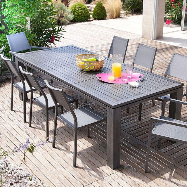 Table de jardin en métal Fiero 200/300 x 103 cm ice - CASTORAMA ...