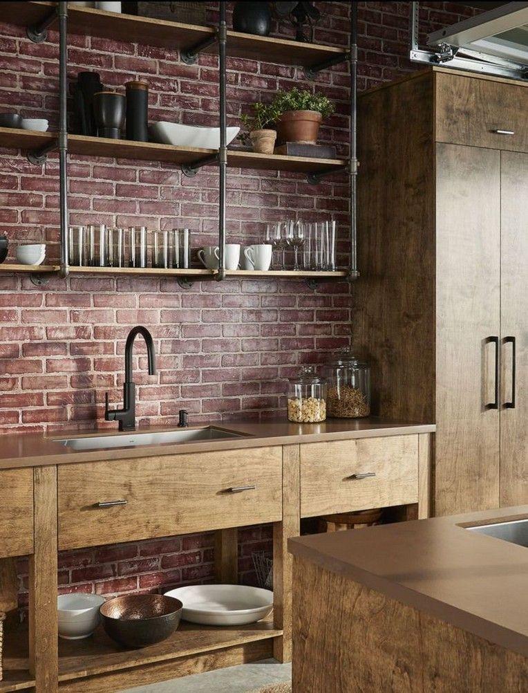 30 modern rustic kitchen decor open shelves ideas rustic modern kitchen rustic kitchen decor on kitchen decor open shelves id=42383