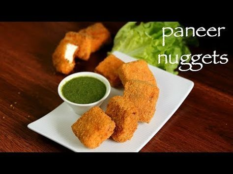 paneer nuggets from hebbarss kitchen on youtube food