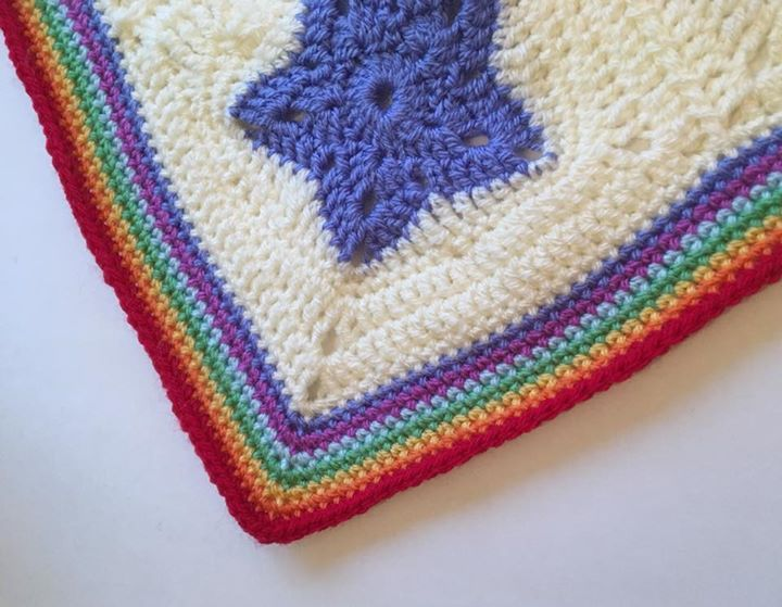 Joining and Border time for the Rainbow of Stars blanket. Crochet ...
