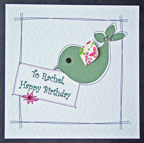 Personalised Handmade Birthday Card Girl Female Sister Mum Friend
