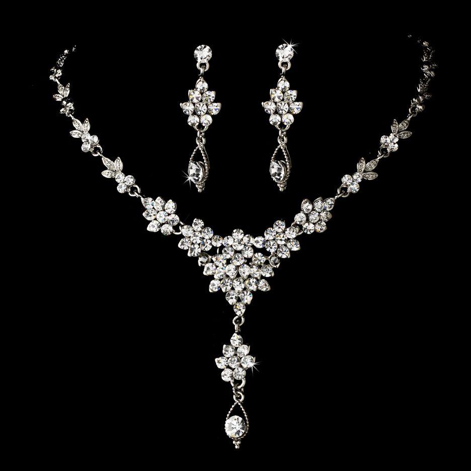 Wonderbaar Sparkling Crystal Quince or Prom Jewelry Set | Sieraden WK-16