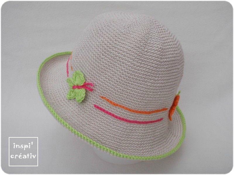 Tuto chapeau été pour enfant au crochet   Baby   Pinterest   Crochet ... c1e09f620b7