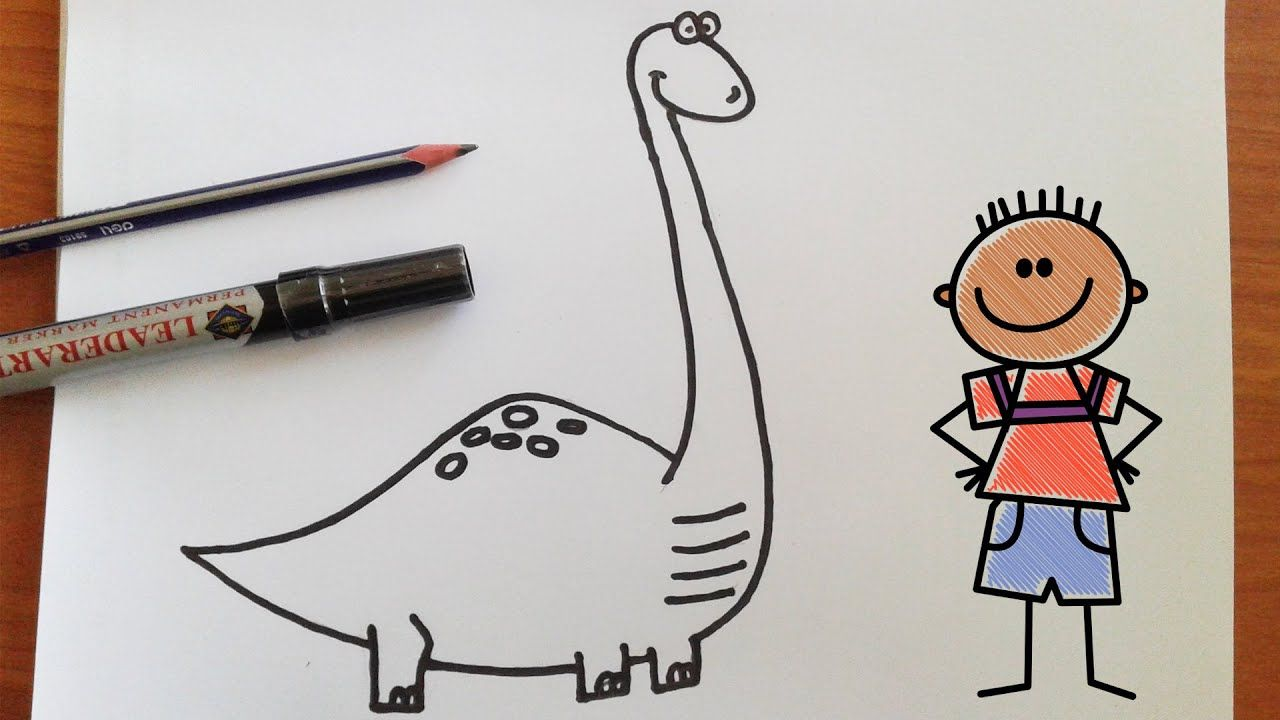تعليم الرسم للاطفال تعلم رسم ديناصور بطريقة سهلة Character Fictional Characters Snoopy