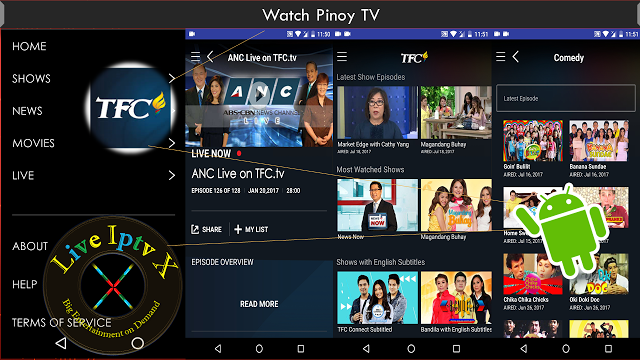 Watch TV Stream Online TFC Pinoy TV & Movies Apk For
