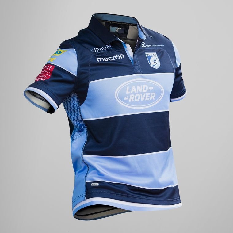 new arrivals 67fdd 8c9fe Macron Cardiff Blues 2018/19 Home S/S Replica Rugby Shirt ...