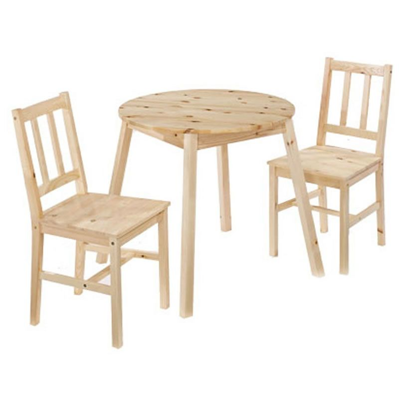 Malaga Small Round 2 Seater Dining Set In Pine | two\'s company ...