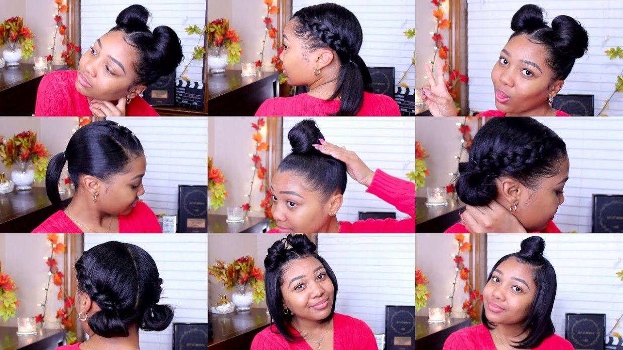 Hairstyle For Shoulder Length Hair Youtube Di 2020 Gaya Rambut Rambut
