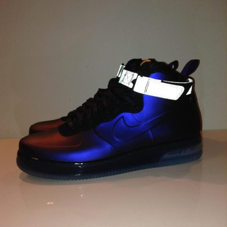 huge selection of 90888 f35b3 Nike Air Force 1 Foamposite Eggplant.