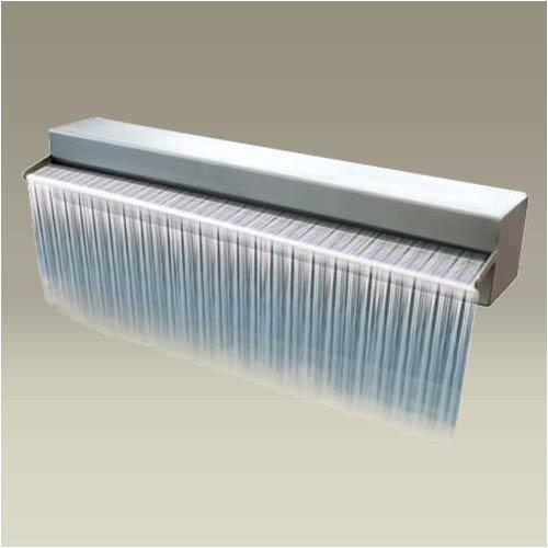 Modern stainless steel waterfall Pond Pinterest - wasserwand selber bauen garten