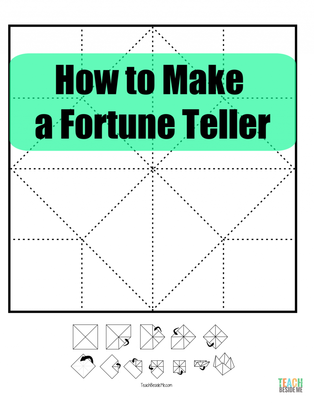 Photo of How to Make a Fortune Teller or Cootie Catcher