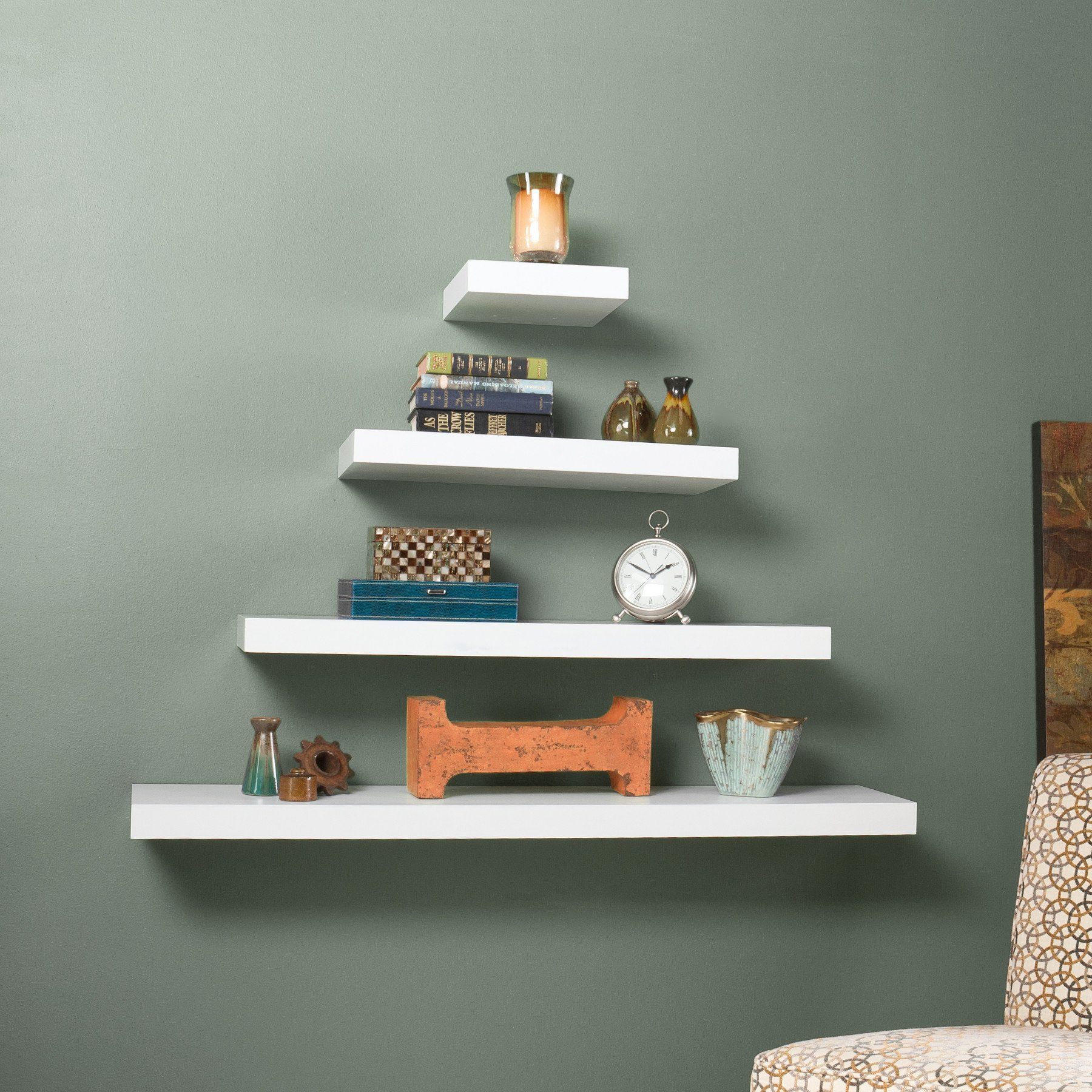 Cannes Floating Shelf White Floating Shelves Shelves Wall Shelves